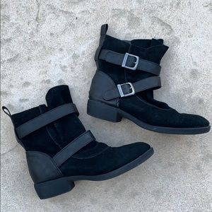 MIA Black Suede 'Odette' Slouchy Boots Size 8.5